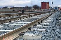 Modernizace a elektrifikace tratě Olomouc - Uničov. Nádraží v Uničově. Ilustrační foto
