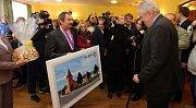 Prezident Zeman v Hradčanech na Přerovsku