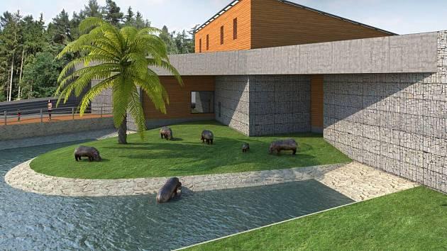 Takto měl vypadal africký pavilon v olomoucké zoo. Ta už začala chystat staveniště, radnice nakonec projekt stopla.