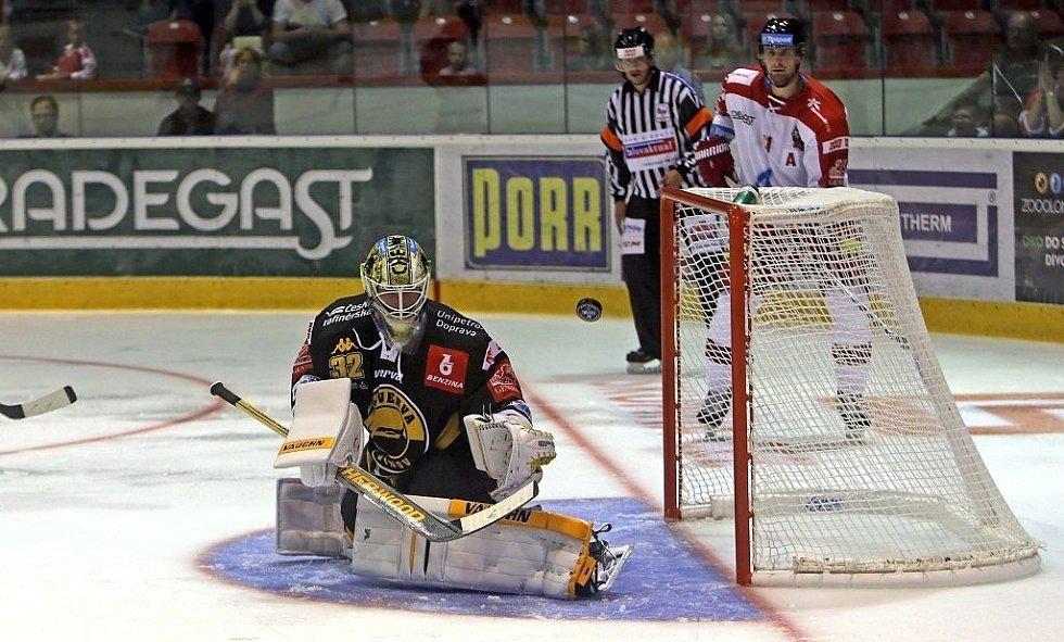 Olomoučtí hokejisté v extraligové generálce doma prohráli 1:3 s Litvínovem.