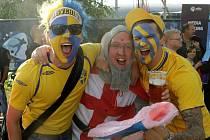 Anglie proti Švédsku. Euro U21 na Andrově stadionu v Olomouci