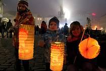 Lapionový průvod k výročí vzniku Československa v Olomouci