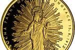 Medailon s vyobrazením baziliky Nanebevzetí Panny Marie na Svatém Hostýně