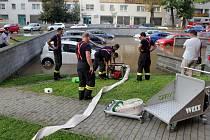 Havárie vodovodního řadu v Olomouci, 16. září 2020. Ulice U stadionu