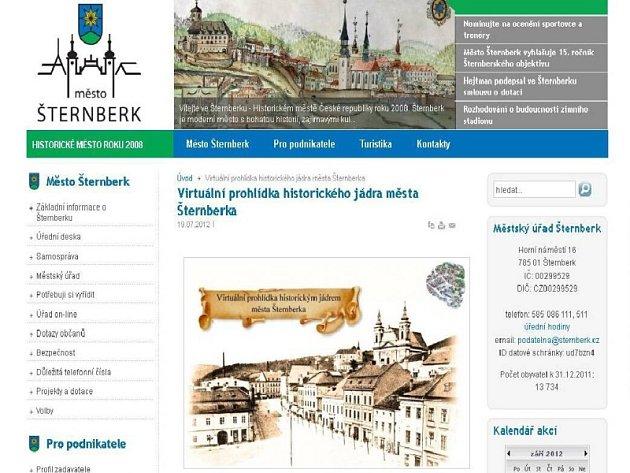 Virtuální prohlídka centra Šternberka