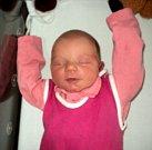 Sofie Králíková, Unčovice, narozena 19. března ve Šternberku, míra 49 cm, váha 3060 g