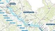 Plánovaná trasa dálnice D35 mezi Hradcem Králové a Mohelnicí
