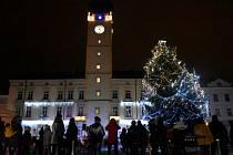 Rozsvěcování vánočního stromu v centru Litovle, 27. 11. 2020