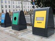 Pozemní kontejnery v centru Olomouc. Ilustrační foto
