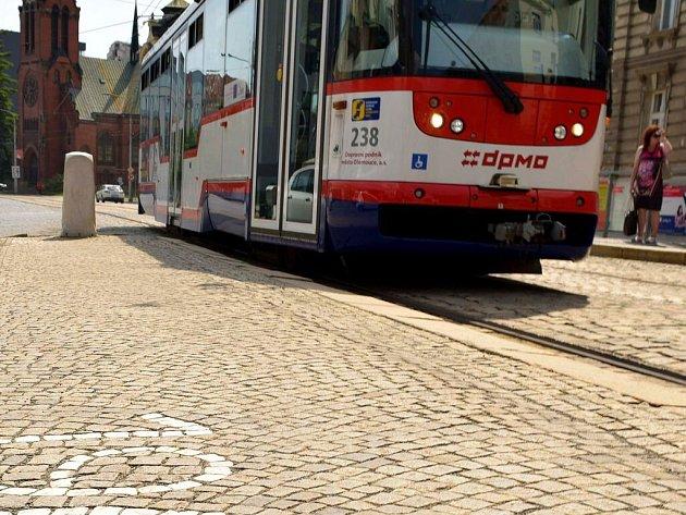 Tramvaj na třídě Svobody v Olomouci. Ilustrační foto