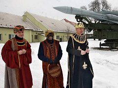 Tři králové na velitelství společných sil Armády ČR v Olomouci