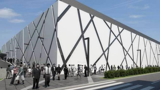 Vizualizace přestavby zimního stadionu na Městskou halu Olomouc