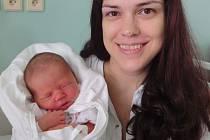 Natálka Kadlecová, Prostějov, narozena 27. září v Olomouci, míra 50 cm, váha 3210 g.