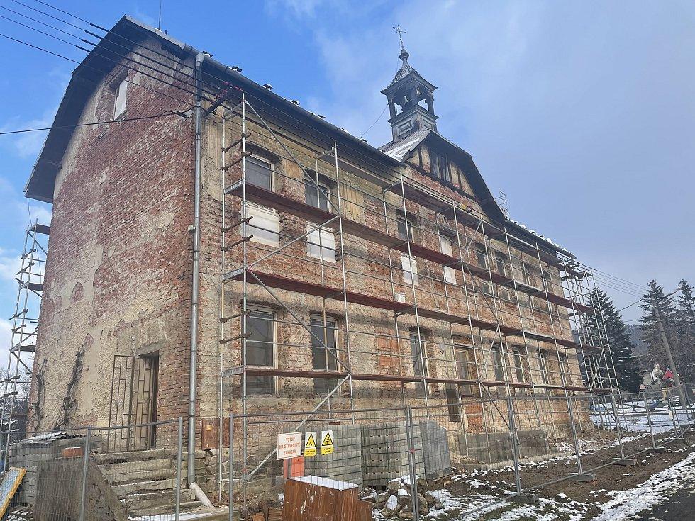 Dlouhá Loučka, Plinkout, výstavba malometrážních bytů, leden 2021