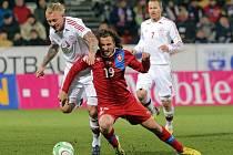 Kvalifikační zápas Česko - Dánsko v Olomouci
