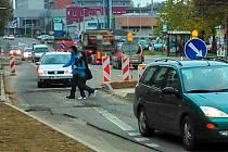 Úpravy v Ladově ulici brzdí provoz
