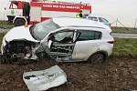 Při nehodě nedaleko Dubu nad Moravou se zranili dva lidé.