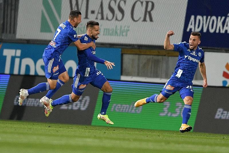 Utkání 8. kola první fotbalové ligy: SK Sigma Olomouc - FC Baník Ostrava 17. září 2021 v Olomouci. (střed) Martin Hála z Olomouce.