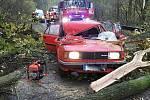 Nehoda se zraněním u Opatovic na Přerovsku.