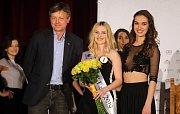 1. Vicemiss a Miss OK Face Nikol Vencová. Semifinále 6.ročníku soutěže Miss OK ve Velké Bystřici.