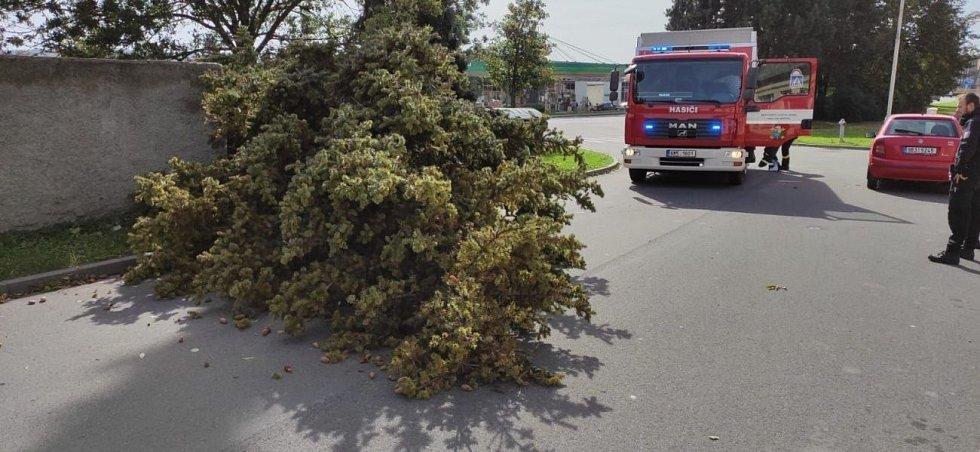Následky silného větru v Olomouckém kraji, 3. října 2020