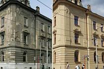 Před rekonstrukcí a po rekonstrukci. Zubní klinika Fakultní nemocnice Olomouc v Palackého ulici