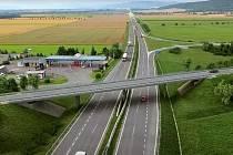 Vizualizace čtyřproudé silnice I/46 Týneček - Šternberk