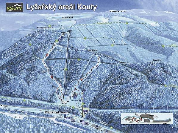 Lyžařský areál Kouty. Zdroj: kouty.com