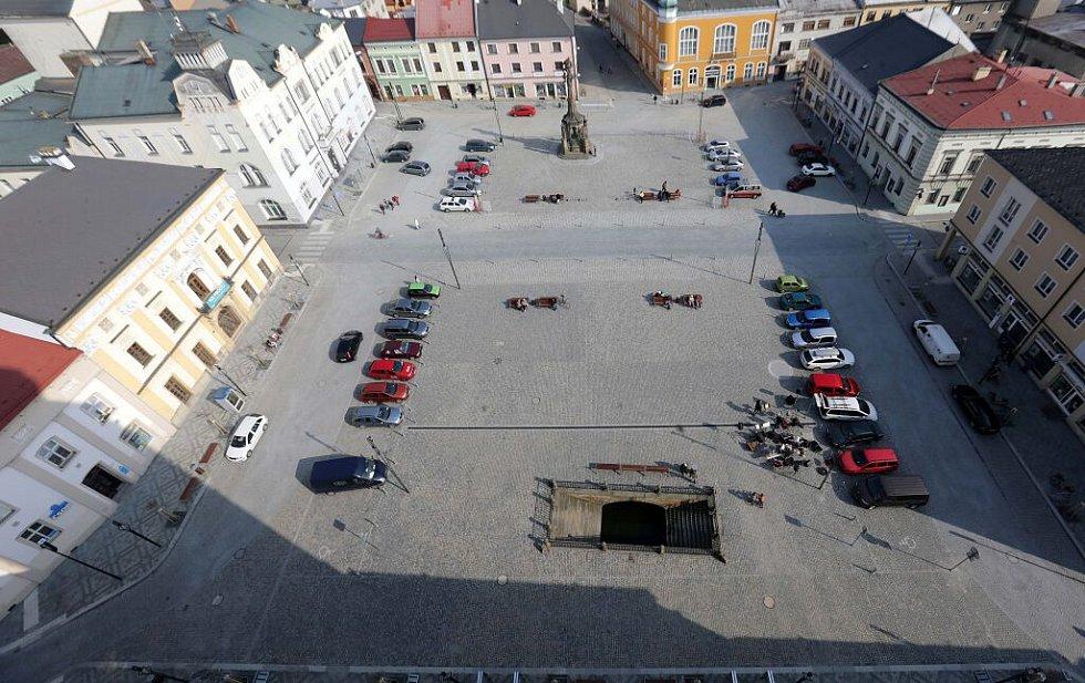 Opravené náměstí Přemysla Otakara v Litovli