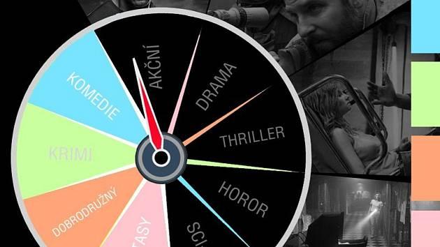 Výběr nechte na nás... Grafika propagující Kino naslepo v olomouckém Metropolu