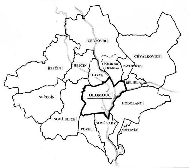 Tzv. Velký Olomouc připojení okolních obcí