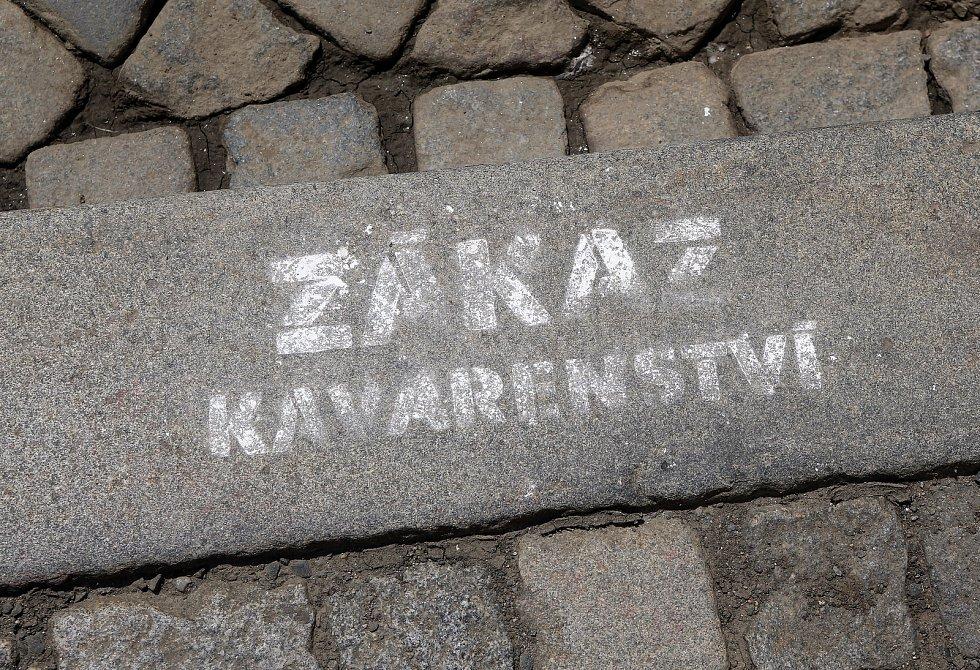 Upozornění na zúžení chodníků při projektované rekonstrukci ulice 8. května v Olomouci