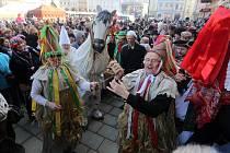 Masopustní veselí na Horním náměstí v Olomouci