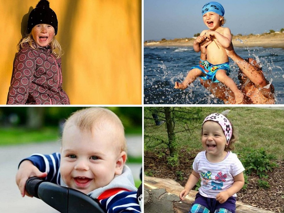 Finále O nejkrásnější dětský úsměv 2015. Ilustrační koláž