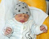 Mathias Friedl, Mohelnice, narozen 2. října ve Šternberku, míra 47 cm, váha 2180 g