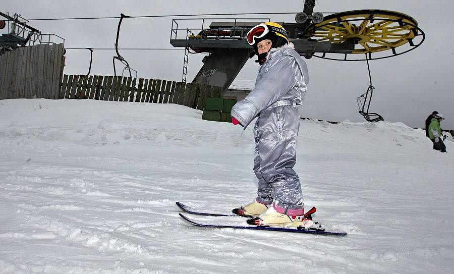 Lyžování ve ski areálu Branná, 3. ledna 2013