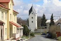 Pohled na Černou věž v Drahanovicích