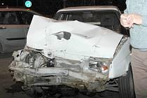 Favorit, ve kterém se  po srážce u Bristolu, zranila spolujezdkyně a chlapec