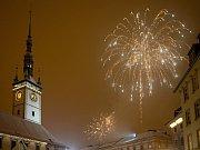 Novoroční ohňostroj v Olomouci 2016