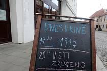Olomoucké kino Metropol ruší večerní promítání.