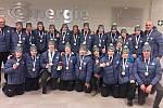 Společné foto týmu Olomouckého kraje s medailemi