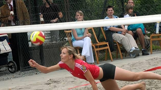 Hřiště na plážový volejbal.