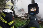 Požár na Černé cestě v Olomouci, 27.8.2019