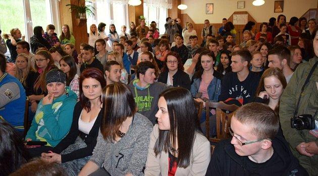Prezident Miloš Zeman na návštěvě Střední školy gastronomické vJeseníku
