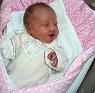 Sofie Valentová, Oskava, narozena 22. května ve Šternberku, míra 50 cm, váha 3060 g.