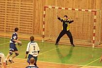 Brankář Michal Baránek v akci