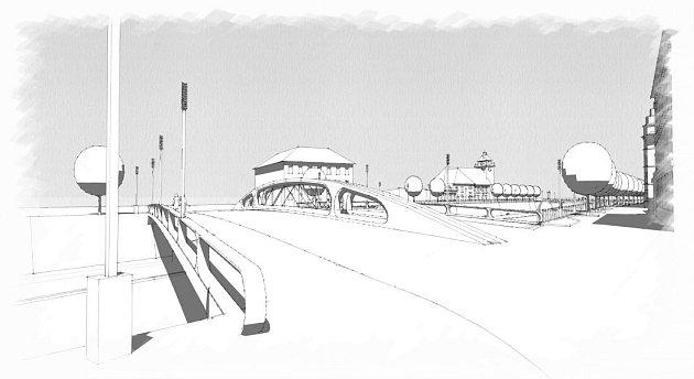 Návrh přestavby mostu na Msarykově třídě vOlomouci