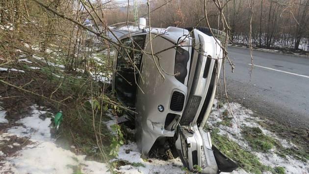 Nehoda BMW v Hlubočkách