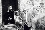 Zahájení výstavy Jiřího Žlebka, Sovinec 15. 4. 1989