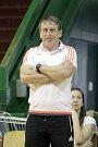 Olomoucké volejbalistky porazily ve druhém zápase semifinále play-off Ostravu (v bílém) 3:0 a srovnaly stav série na 1:1Jiří Teplý, trenér Olomouce